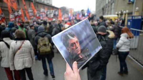 Smuteční pochod za zavražděného Němcova - Sputnik Česká republika