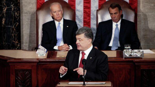 Ukrajinský prezident Petro Porošenko ve Spojených státech amerických - Sputnik Česká republika