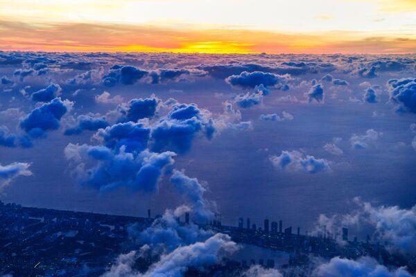 Letecký snímek mraků nad jihem Miami - Sputnik Česká republika
