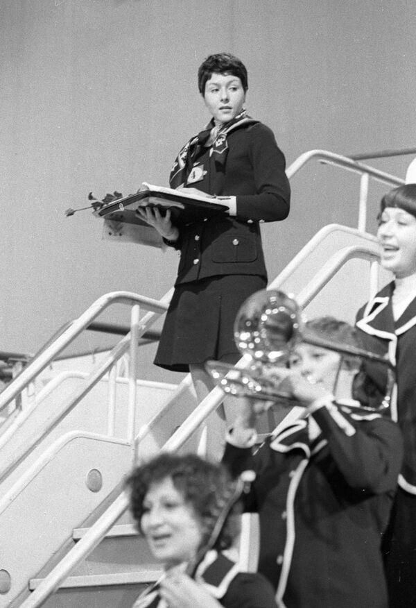 Irina Baženova, vítězka mezinárodní soutěže letušek socialistických zemí, 1977 - Sputnik Česká republika