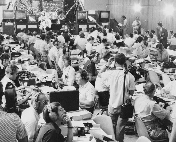 Tiskové středisko Sojuz-Apollo (EPAS-ASTP) během experimentálního letu Sojuz-Apollo. - Sputnik Česká republika