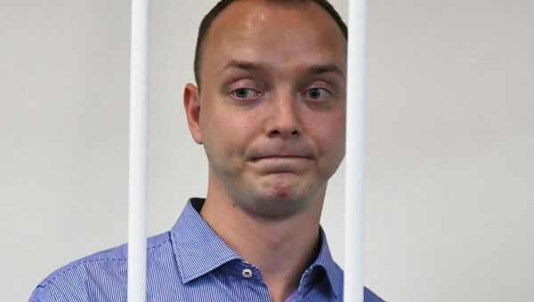 Poradce šéfa Roskosmosu a bývalý novinář Ivan Safronov u soudu - Sputnik Česká republika
