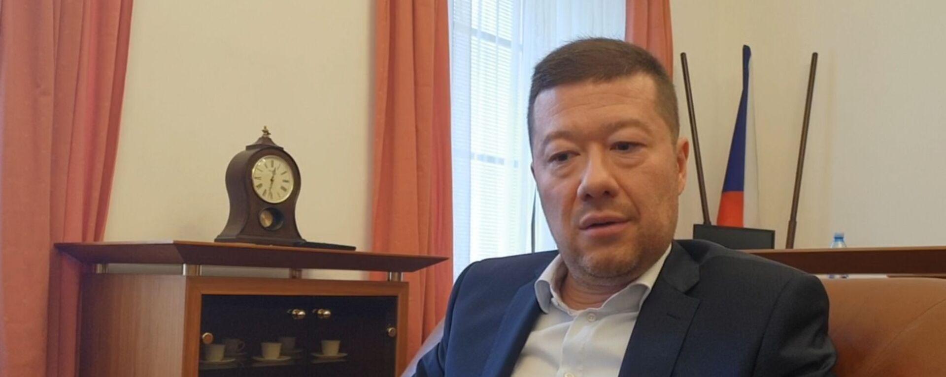 Předseda SPD Tomio Okamura - Sputnik Česká republika, 1920, 01.09.2021