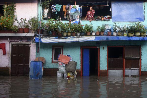 Následky povodně v Káthmándú, Nepál. - Sputnik Česká republika