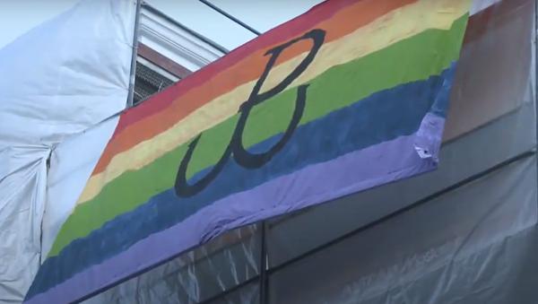 Polští nacionalisté spálili vlajku LGBT během oslav 76. výročí Varšavského povstání - Sputnik Česká republika