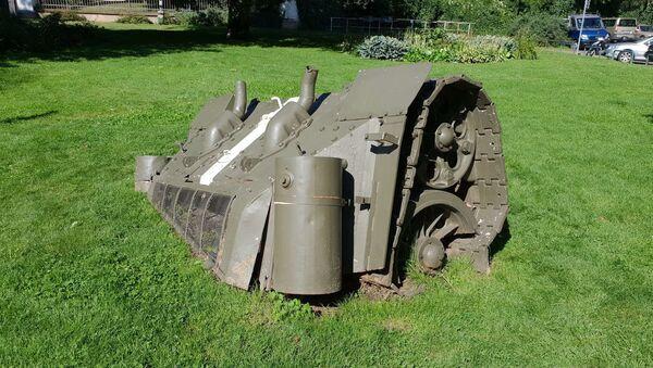 Zadek sovětského tanku na náměstí Kinských vPraze - Sputnik Česká republika