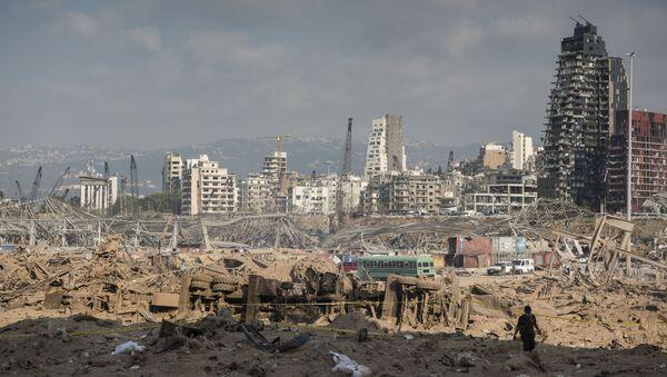 Důsledky požáru v bejrútském přístavu - Sputnik Česká republika