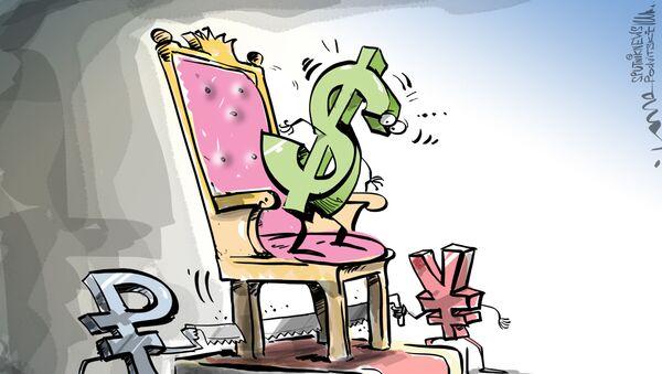 Antidolarová aliance Ruska a Číny ohrožuje měnovou hegemonii USA - Sputnik Česká republika
