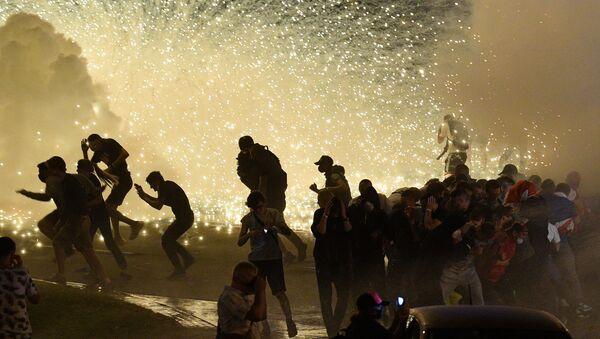 Protesty v Minsku proti výsledku prezidentských voleb - Sputnik Česká republika
