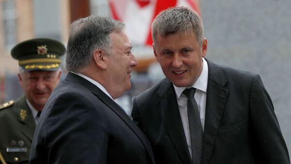 Mike Pompeo s Tomášem Petříčkem v Plzni - Sputnik Česká republika