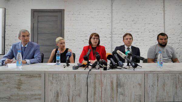 Zástupci Koordinační rady běloruské opozice Pavel Latuško, Maria Kolesnikovová, Olga Kovalkovová, Maxim Znak a Sergej Dylevský - Sputnik Česká republika