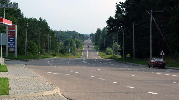 Silnice na polsko-litevské hranice. Ilustrační foto - Sputnik Česká republika