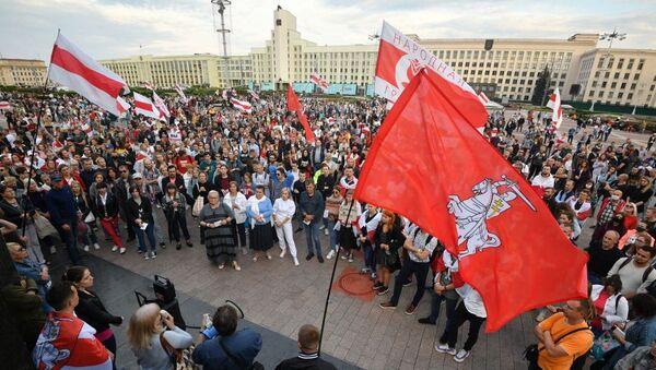 Demonstrace proti Lukašenkovi v Minsku (20. 8. 2020) - Sputnik Česká republika
