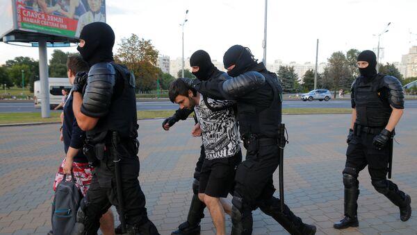 Policie rozehnala účastníky protestní akce v Minsku - Sputnik Česká republika