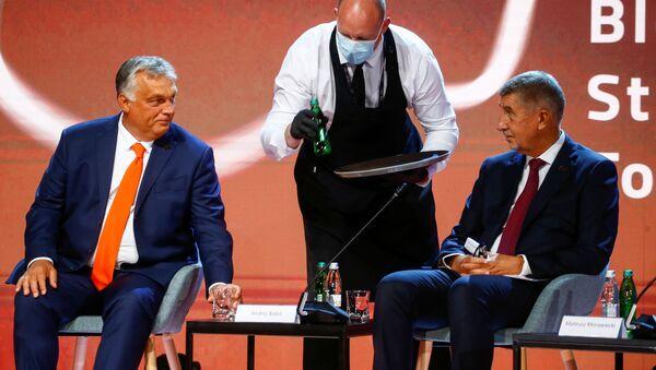 Premiér Andrej Babiš hovoří s maďarským premiérem Viktorem Orbánem v rámci Bledského strategického fóra - Sputnik Česká republika
