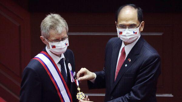 Miloš Vystrčil v tchajwanském parlamentu - Sputnik Česká republika