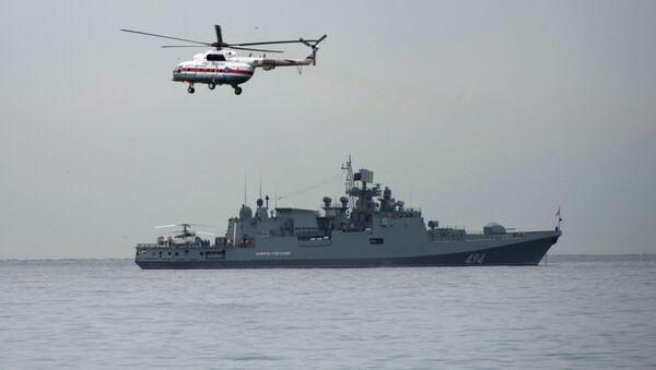 Loď Admiral Grigorovič v Černém moři - Sputnik Česká republika