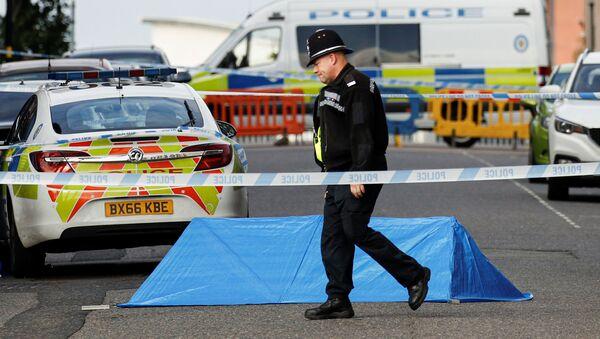 Policie na místě útoku v britském Birminghamu - Sputnik Česká republika