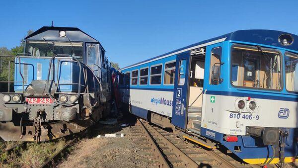 Střet vlaků ve Kdyni na Domažlicku - Sputnik Česká republika
