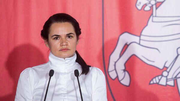 Bývalá kandidátka na úřad běloruského prezidenta Světlana Tichanovská v Polsku - Sputnik Česká republika