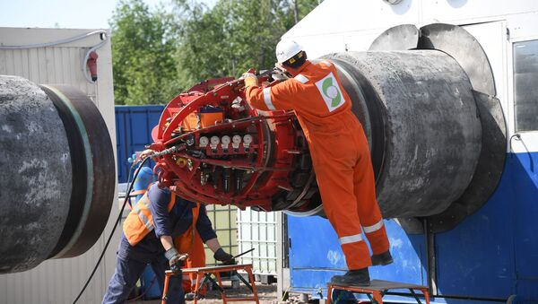 Stavba německo-ruského plynovodu Nord Stream 2 - Sputnik Česká republika
