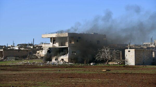 Zničený dům na jihovýchodě provincie Idlib - Sputnik Česká republika