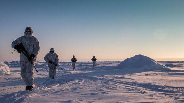 Cvičení speciálních sil Čečenské republiky v oblasti severního pólu. Illustrační foto - Sputnik Česká republika