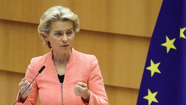 Předsedkyně Evropské komise Ursula von der Leyenová promluvila o stavu Evropské unie v Evropském parlamentu (16. 09. 2020) - Sputnik Česká republika