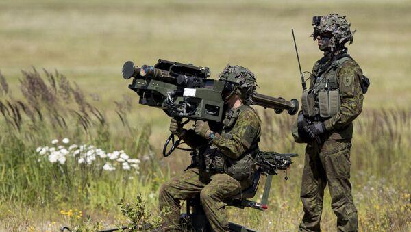 Litevští vojáci během vojenského cvičení NATO NATO Tobruq Legacy 2017 - Sputnik Česká republika
