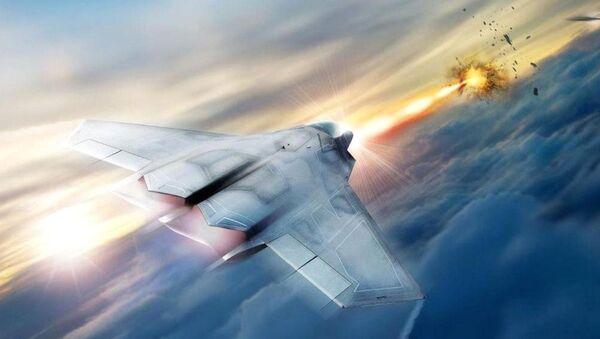 Koncept stíhačky vybavené laserovými zbraněmi - Sputnik Česká republika