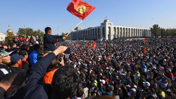 Protestní akce v Biškeku - Sputnik Česká republika