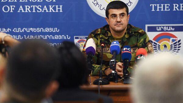Prezident neuznané republiky Náhorní Karabach Araik Aruťuňan - Sputnik Česká republika