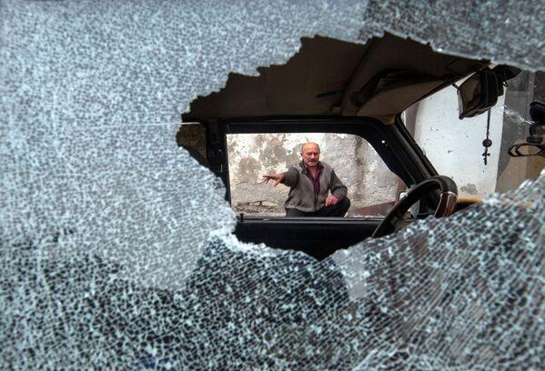 Následky ostřelování hlavního města Náhorního Karabachu Stěpanakertu. - Sputnik Česká republika