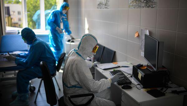Lékaři v moskevské nemocnici - Sputnik Česká republika