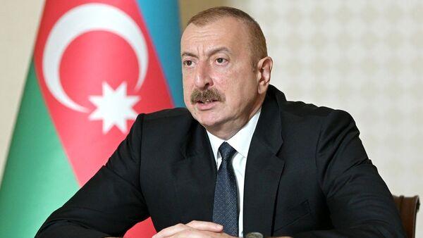 Ázerbájdžásnký prezident Ilham Alijev - Sputnik Česká republika