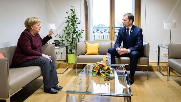 Angela Merkelová a Igor Matovič - Sputnik Česká republika
