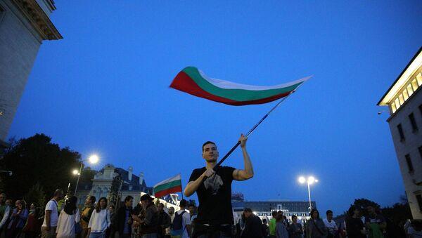 Účastníci protivládních protestů v Sofii - Sputnik Česká republika