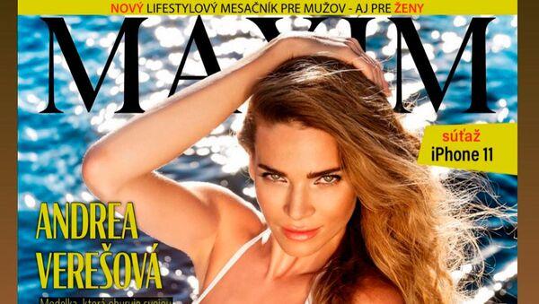 Andrea Verešová na titulní stránce Maximu - Sputnik Česká republika