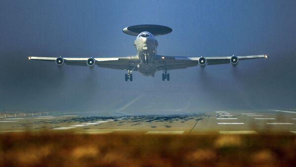 Letoun včasné výstrahy a řízení NATO AWACS na základně v Německu - Sputnik Česká republika