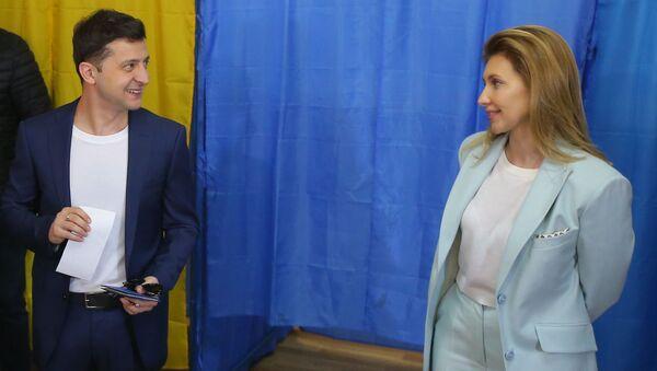 Prezident Zelenský a jeho žena - Sputnik Česká republika