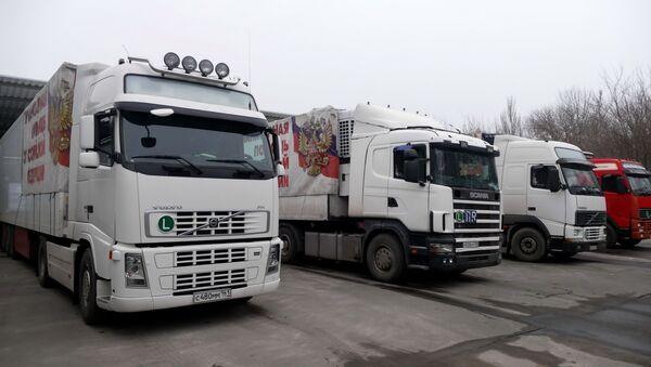 Automobily 75. konvoje MČS Ruska s humanitární pomocí pro obyvatele Donbasu - Sputnik Česká republika