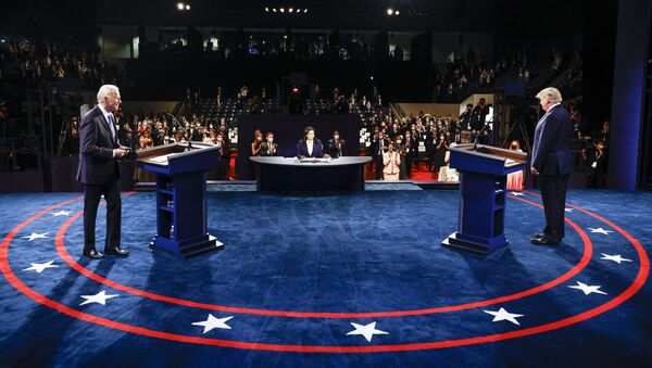 Kandidáti na amerického prezidenta Joe Biden a Donald Trump. - Sputnik Česká republika