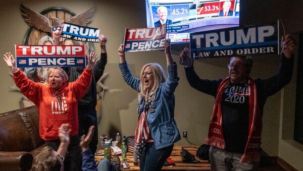 Příznivci amerického prezidenta Donalda Trumpa - Sputnik Česká republika