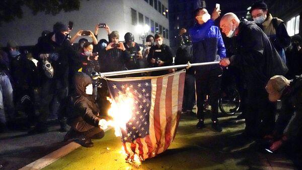 Protest v USA - Sputnik Česká republika
