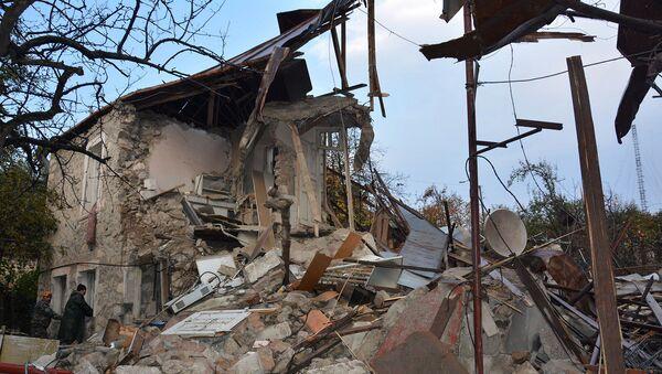 Důsledky nočního a ranního ostřelování Stepanakertu (6. listopadu 2020). Karabach - Sputnik Česká republika