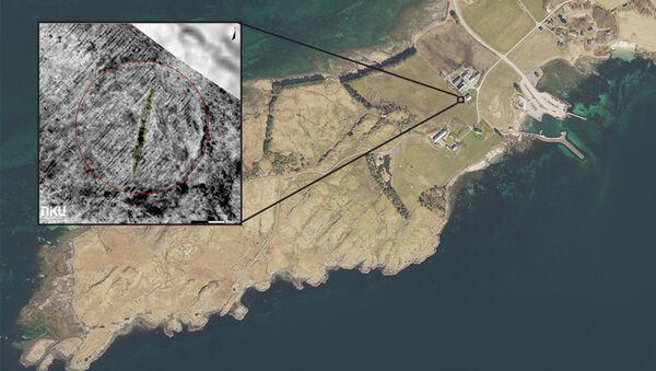 Snímek lodě Vikingů učiněny pomocí georadaru - Sputnik Česká republika