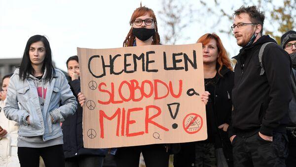 Bratislavský protest - Sputnik Česká republika