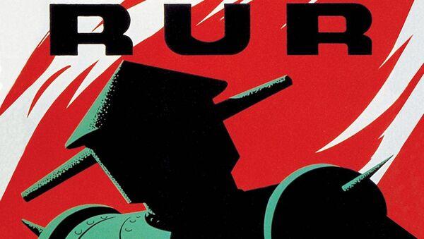 Plakát hry Karla Čapka R.U.R pro loutkové divadlo v New Yorku (1939) - Sputnik Česká republika