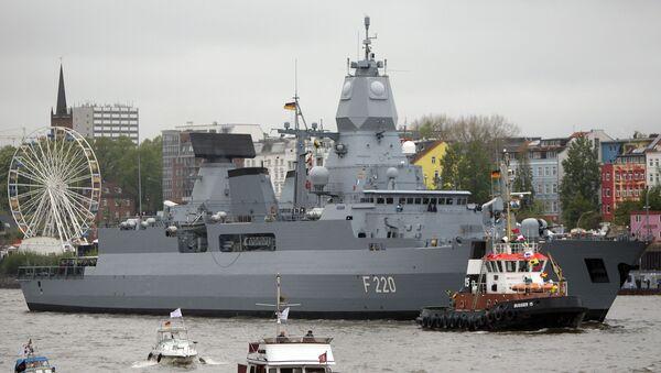 Německá fregata Hamburg. Ilustrační foto. - Sputnik Česká republika