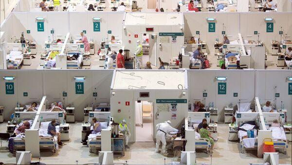 Dočasná nemocnice pro pacienty s COVID-19 v Rusku - Sputnik Česká republika